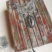 Блокноты ручной работы. Ярмарка Мастеров - ручная работа Блокнот Серебристый мотылек. Handmade.