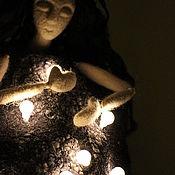 """Для дома и интерьера ручной работы. Ярмарка Мастеров - ручная работа войлочный светильник """"Ночь""""(резерв). Handmade."""