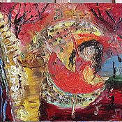 """Картины и панно ручной работы. Ярмарка Мастеров - ручная работа Картина маслом """"Танец женственности"""". Handmade."""