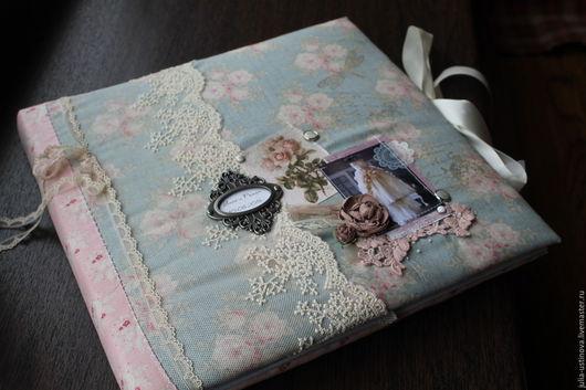 """Свадебные фотоальбомы ручной работы. Ярмарка Мастеров - ручная работа. Купить Свадебный фотоальбом """"Счастье там, где мы."""". Handmade."""