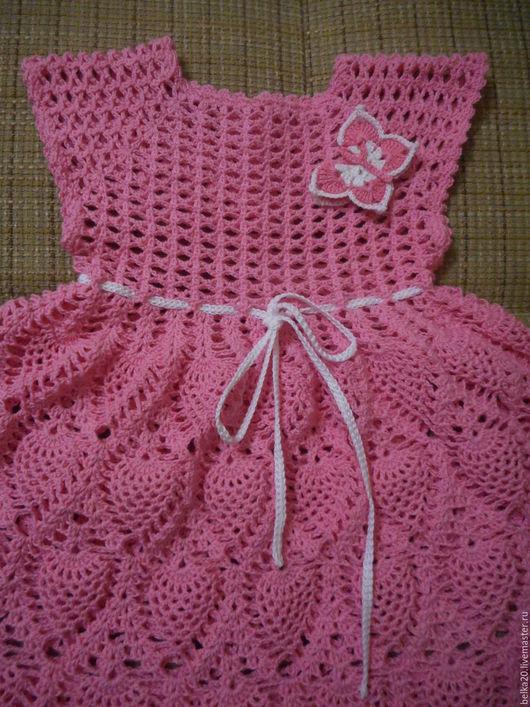 Одежда для девочек, ручной работы. Ярмарка Мастеров - ручная работа. Купить Платье Розовое с ананасами. Handmade. Розовый, платье крючком