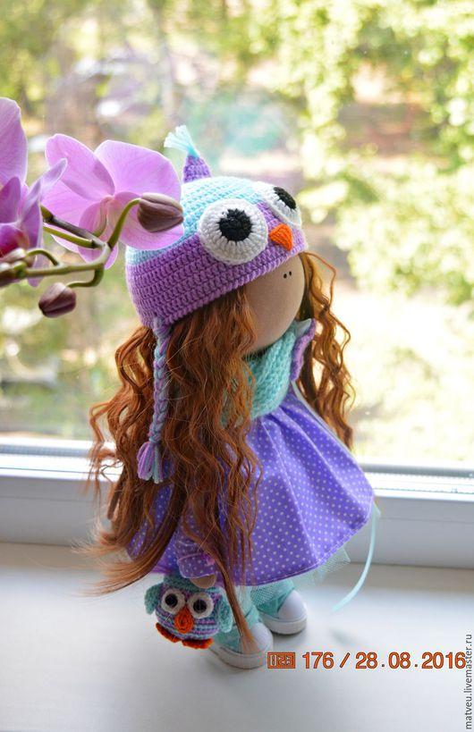 Коллекционные куклы ручной работы. Ярмарка Мастеров - ручная работа. Купить Совушка. Handmade. Сиреневый, кукла в подарок, подарок, интерьер