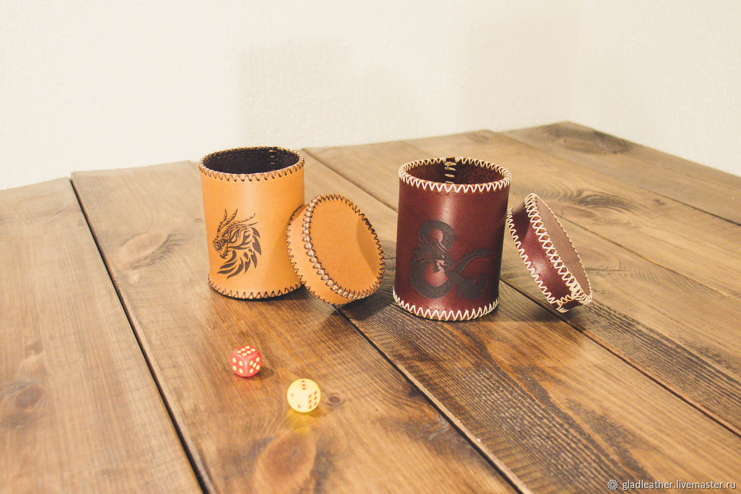 Leather Cup for dice, Table games, Volzhsky,  Фото №1