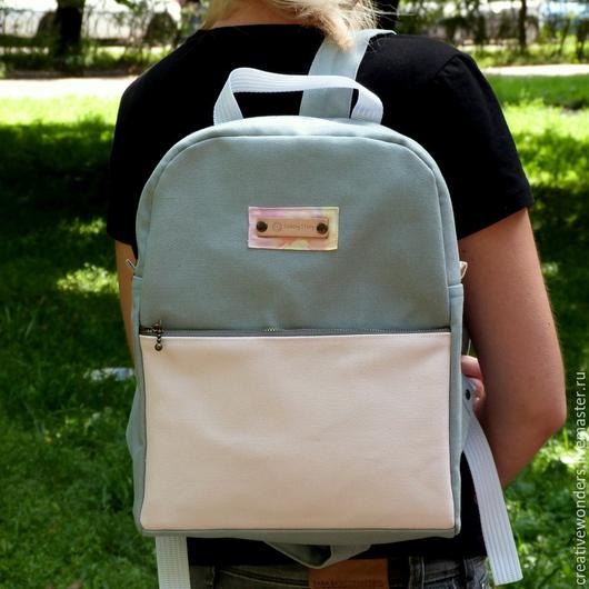 """Рюкзаки ручной работы. Ярмарка Мастеров - ручная работа. Купить рюкзак """"Classic"""" серый. Handmade. Серый, рюкзак из ткани"""