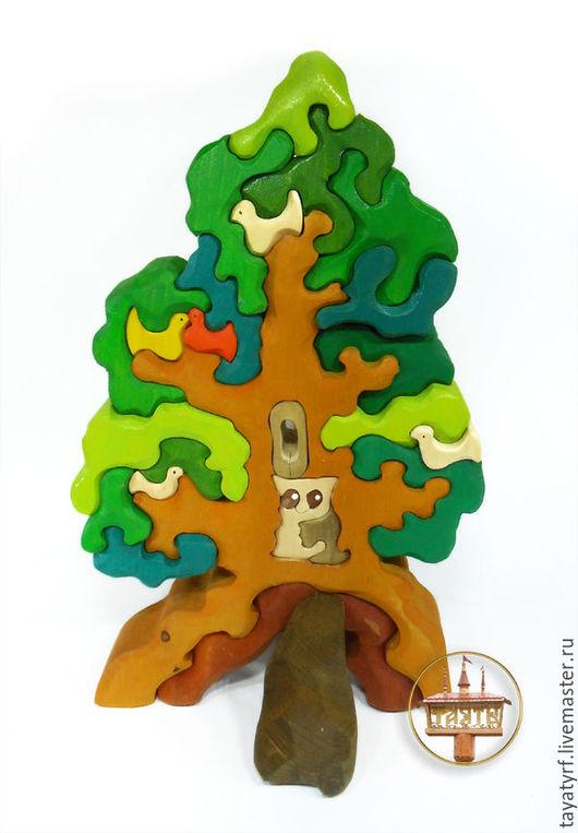 Развивающие игрушки ручной работы. Ярмарка Мастеров - ручная работа. Купить Дерево с совой. Handmade. Комбинированный, дерево