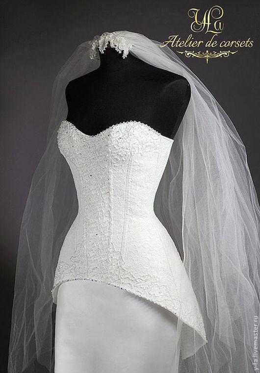 """Платья ручной работы. Ярмарка Мастеров - ручная работа. Купить Свадебное платье """"Victoria"""". Handmade. Белый, атласная ткань"""