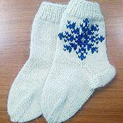 """Обувь ручной работы. Ярмарка Мастеров - ручная работа Носочки """"Снежинка"""". Handmade."""