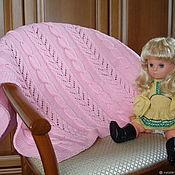 """Пледы ручной работы. Ярмарка Мастеров - ручная работа Плед детский """"Розовый ажур"""". Handmade."""