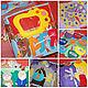 Развивающие игрушки ручной работы. Ярмарка Мастеров - ручная работа. Купить Мягкая развивающая книжка для малышки Али. Handmade. Разноцветный