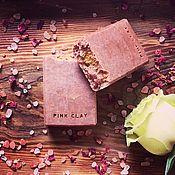 Мыло ручной работы. Ярмарка Мастеров - ручная работа Pink Clay. Натуральное мыло с розовой глиной и ароматом розы. Handmade.