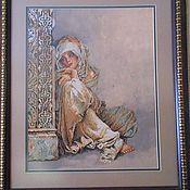 """Картины и панно ручной работы. Ярмарка Мастеров - ручная работа Вышитая картина """"Арабская девушка"""". Handmade."""