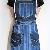 Для дома и интерьера handmade. Livemaster - original item Denim apron for working in the garden Strip. Handmade.