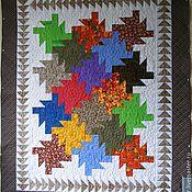 """Одеяла ручной работы. Ярмарка Мастеров - ручная работа Лоскутнный плед-одеяло """"Осень"""". Handmade."""
