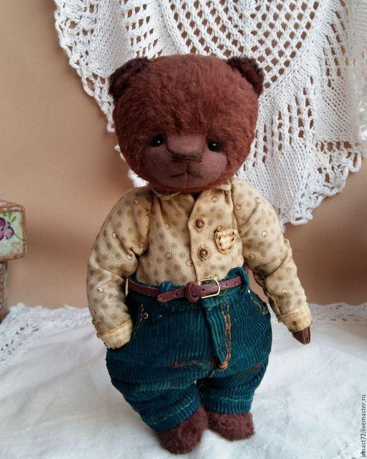 Мишки Тедди ручной работы. Ярмарка Мастеров - ручная работа. Купить Лёнька. Handmade. Коричневый, подарок