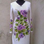 Одежда ручной работы. Ярмарка Мастеров - ручная работа платье вязаное белое. Handmade.
