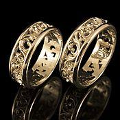 Обручальные кольца ручной работы. Ярмарка Мастеров - ручная работа Обручальные кольца из золота. Handmade.