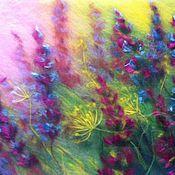 """Картины и панно ручной работы. Ярмарка Мастеров - ручная работа картина из шерсти """" Полевые цветы"""". Handmade."""