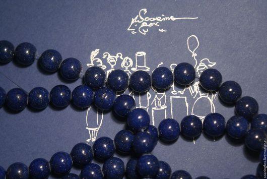 Для украшений ручной работы. Ярмарка Мастеров - ручная работа. Купить Бусины ляпис лазурита, 9мм. Handmade. Тёмно-синий