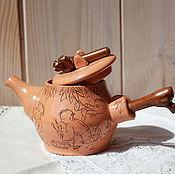 Посуда ручной работы. Ярмарка Мастеров - ручная работа Чайник керамический Китайский. Handmade.