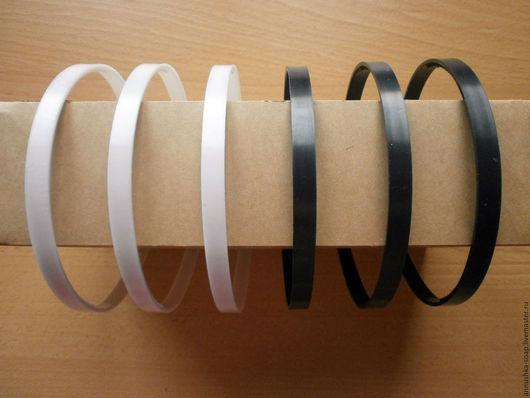 Для украшений ручной работы. Ярмарка Мастеров - ручная работа. Купить Ободок пластиковый, белый, черный, 15 мм.. Handmade.