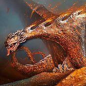 Картины и панно handmade. Livemaster - original item Copyright 3D picture Fire dragon (Vladimir Tarasov). Handmade.