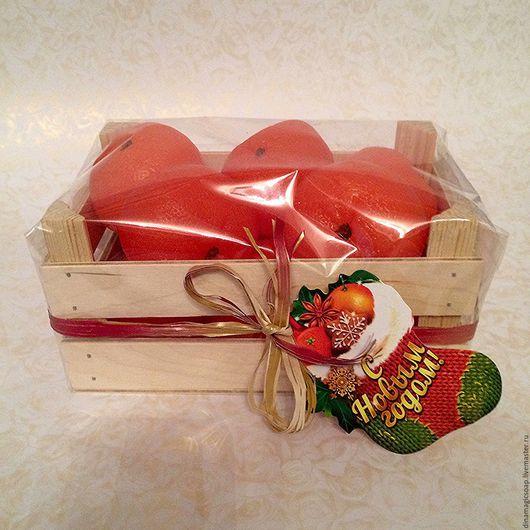 Мыло ручной работы. Ярмарка Мастеров - ручная работа. Купить мыло Ящик с мандаринками ( поштучно 140 р за 1 шт). Handmade.