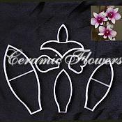 Материалы для творчества handmade. Livemaster - original item A set of cutters Orchids Dendrobium, plastic. Handmade.