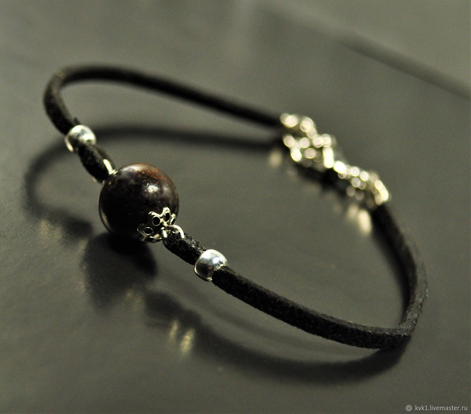 Bracelet with stone meteorite, Amulet, Moscow,  Фото №1