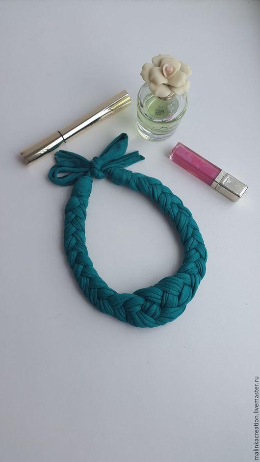 Стильное колье Green Emerald от Malinka_Creations