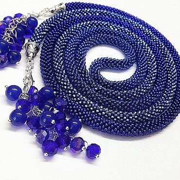 Decorations handmade. Livemaster - original item Lariat necklace knitted from beads
