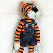 Куклы и игрушки handmade. Livemaster - original item Tiger Edgar. Knitted toy.. Handmade.