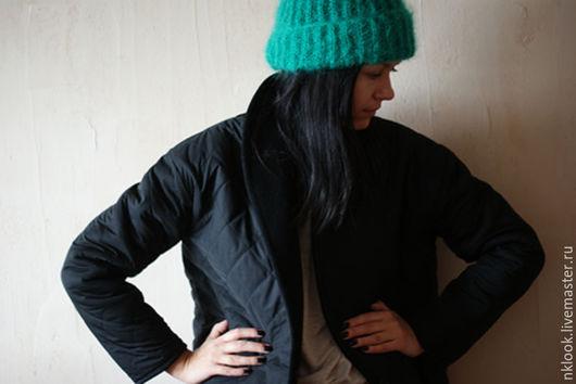 Верхняя одежда ручной работы. Ярмарка Мастеров - ручная работа. Купить Двухстороннее пальто-куртка. Handmade. Черный, пальто утепленное