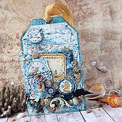 """Открытки ручной работы. Ярмарка Мастеров - ручная работа Подарочный тэг """"Ностальгия по морю"""". Handmade."""