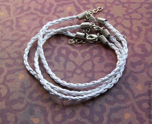 Для украшений ручной работы. Ярмарка Мастеров - ручная работа. Купить Ремешок для браслета плетеный белый 20мм Р23. Handmade.