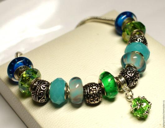 `Подарок`  Модульный браслет Все шармы на браслете можно приобрести отдельно и создать свой собственный браслет