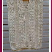 Одежда ручной работы. Ярмарка Мастеров - ручная работа жилет шерстяной безрукавка вязаная. Handmade.