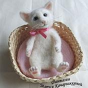 Куклы и игрушки ручной работы. Ярмарка Мастеров - ручная работа Кошечка, Котик, валяная игрушка. Handmade.