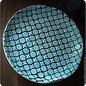 """Посуда ручной работы. Ярмарка Мастеров - ручная работа керамическое блюдо """"Бирюза"""". Handmade."""