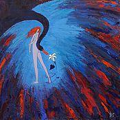 """Картины и панно ручной работы. Ярмарка Мастеров - ручная работа Картина маслом """"Леда и Лебедь"""". Handmade."""