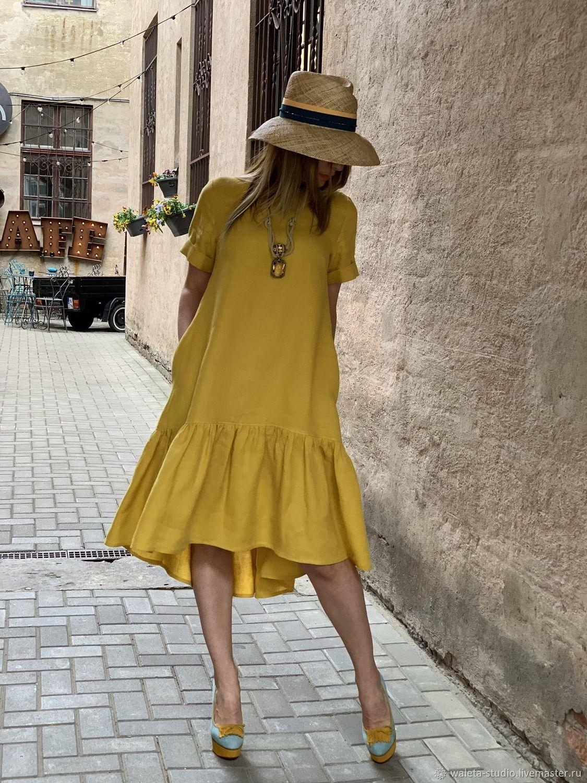 Платья ручной работы. Ярмарка Мастеров - ручная работа. Купить Платье с воланом. Handmade. Платье, платье с воланом