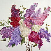 Картины и панно handmade. Livemaster - original item Picture a Bouquet of lilacs. Handmade.