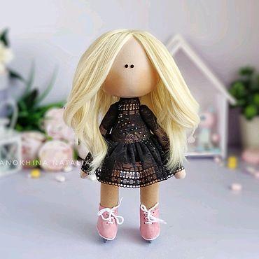 Куклы и игрушки ручной работы. Ярмарка Мастеров - ручная работа Кукла на коньках тильда фигуристка кукла интерьерная по фотографии. Handmade.