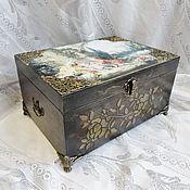 Для дома и интерьера handmade. Livemaster - original item The box is decoupage. jewelry box pastoral 3, decoupage. Handmade.
