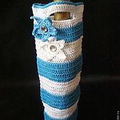 Сувениры и подарки ручной работы. Ярмарка Мастеров - ручная работа Подарочный вязаный чехол- сумка для бутылки Sea star. Handmade.