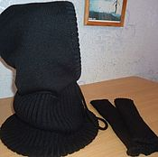 Одежда handmade. Livemaster - original item Snood-a hood and mitts for men. Handmade.