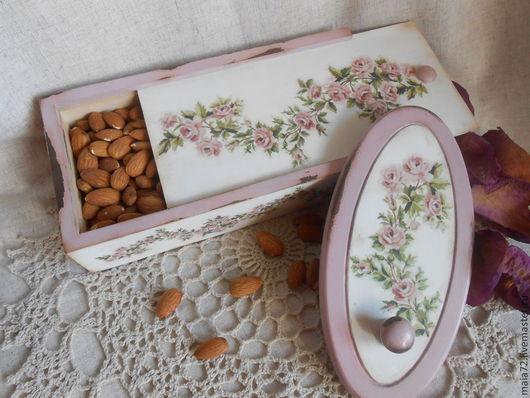"""Кухня ручной работы. Ярмарка Мастеров - ручная работа. Купить набор для кухни """"Нежные розочки"""". Handmade. Бледно-розовый, фанера"""