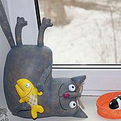 Куклы и игрушки ручной работы. Ярмарка Мастеров - ручная работа Кот Обжора. Handmade.