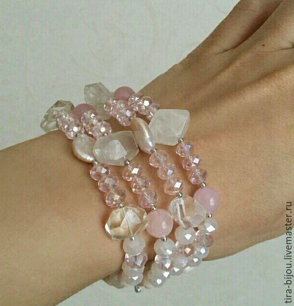 Bracelet 'Rose sensuale', Bead bracelet, Moscow,  Фото №1