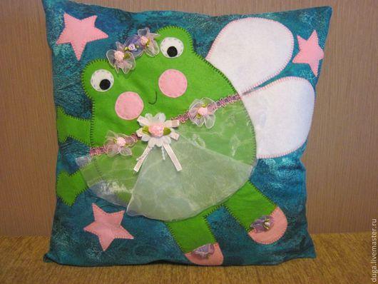 """Детская ручной работы. Ярмарка Мастеров - ручная работа. Купить Детская подушка  """"Квалия""""  № 127. Handmade. Тёмно-синий"""