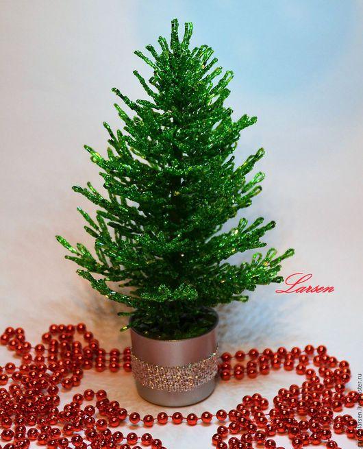 Деревья ручной работы. Ярмарка Мастеров - ручная работа. Купить Елочка из бисера к Новому году. ( 1200 руб). Handmade.